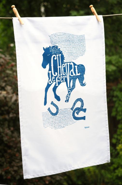 Canadian horse dish towel, Montreal, 2015
