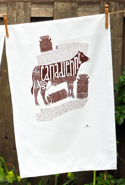 Canadian cow dish towel, Montreal, 2013