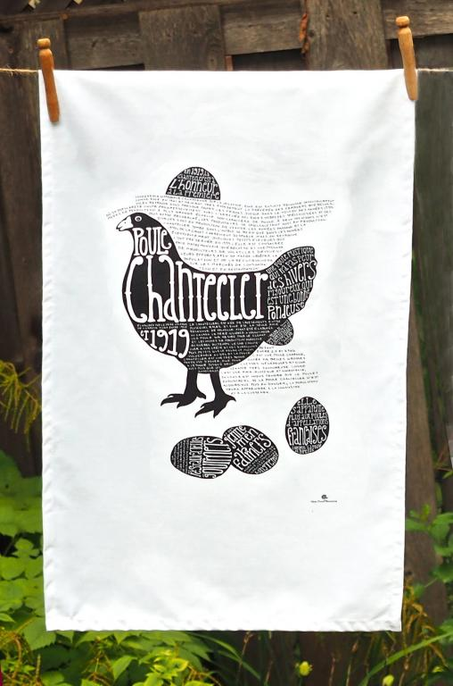 Chantecler chicken dish towel, Montreal, 2013