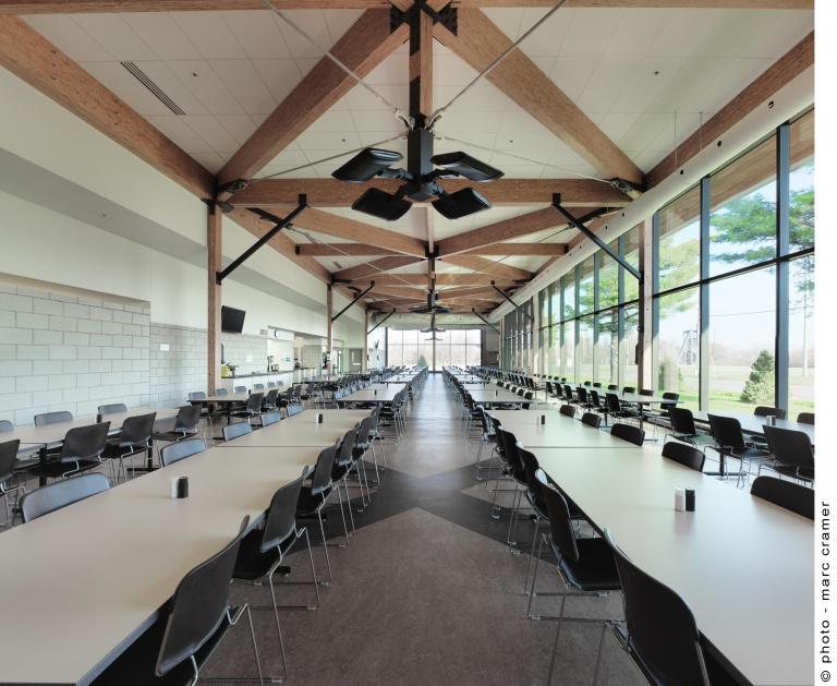 Farnham kitchen and dining hall , Farnham, Quebec, 2012