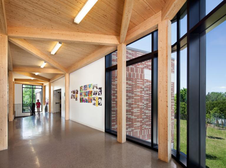 Adélard-Desrosiers school expansion, Montreal, 2012