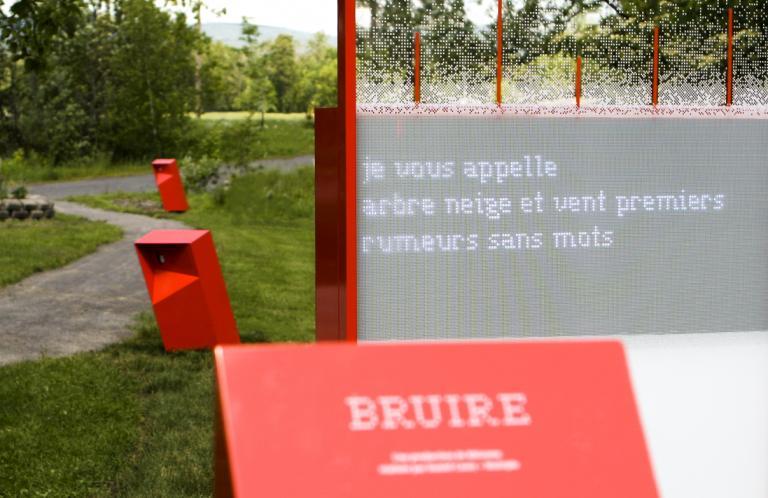 Installation interactive poétique, Beauport, Québec, 2013