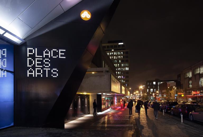 Signalétique de l'Espace Georges-Émile-Lapalme de Place des Arts, Montréal, 2009 – 2014