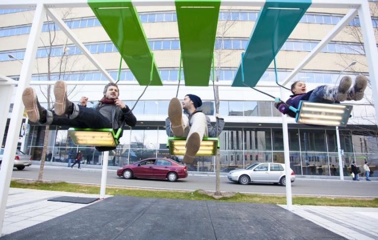 Musical swings, Montreal, 2011-2012-2013
