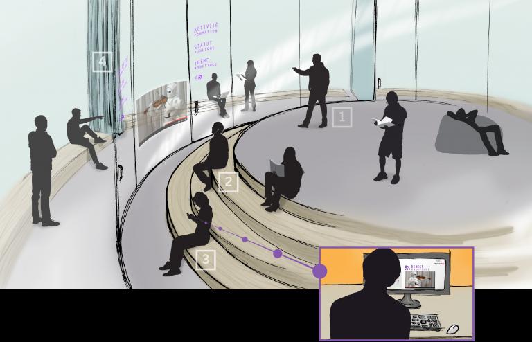 Concept de bibliothèque du XXIe siècle, Bibliothèque de Montréal, 2014