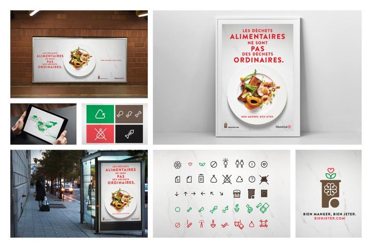City of Montreal Campaign : Bien manger, bien jeter, 2016