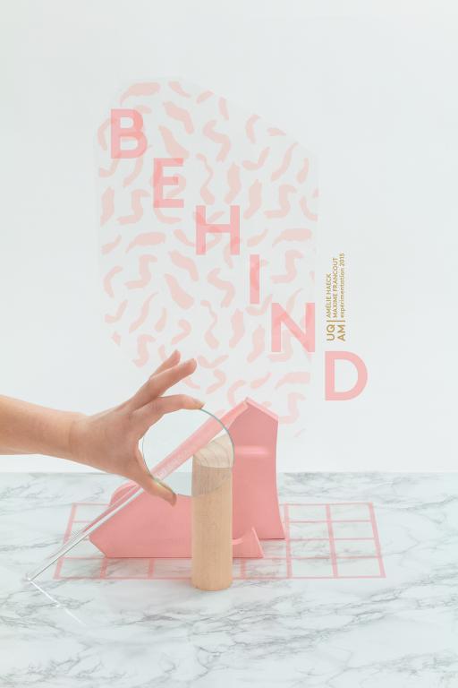 Installation sur le thème de la transparence réalisée en collaboration avec Amélie Haeck