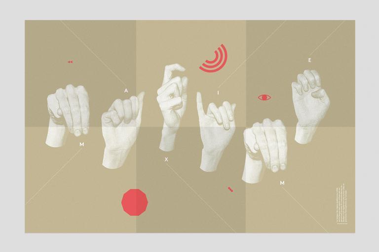Livre accordéon sur le thème de l'itinéraire qui invite à découvrir la Langue des Signes Québécois (LSQ)