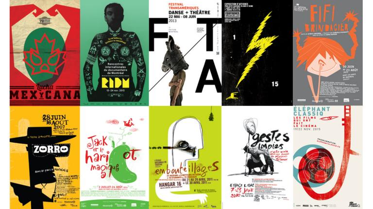 Various cultural posters, Montreal, 2007-2015