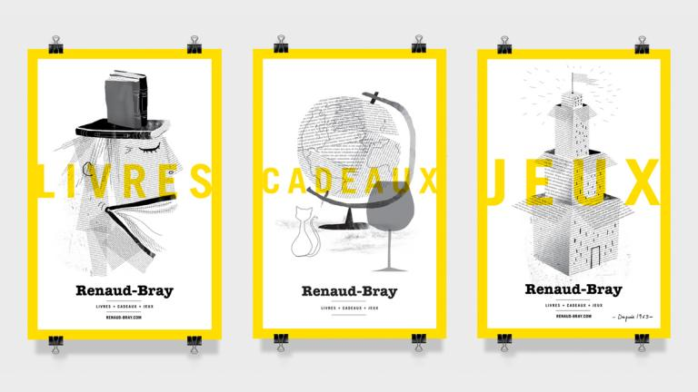 Renaud-Bray bookstore posters, Montreal