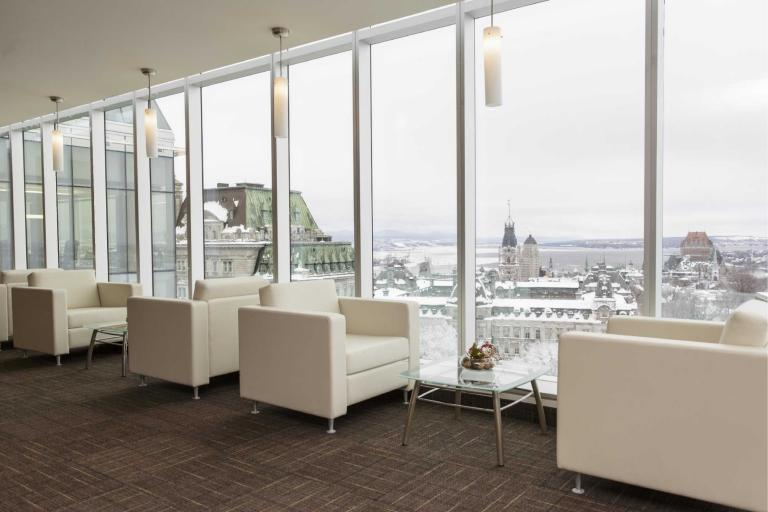 La Capitale Groupe Financier, headquarters interior design, Québec City, 2012