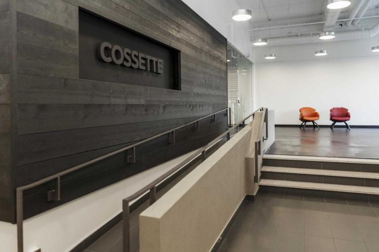 Cossette Communications, office design, Québec City, 2010