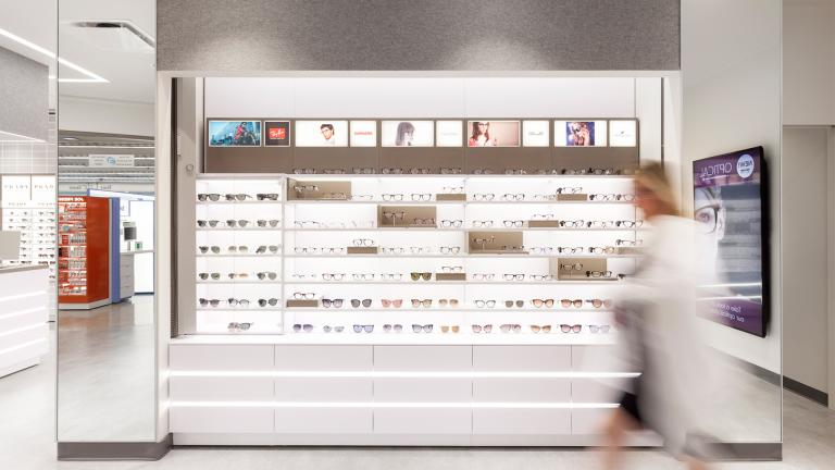 Comptoir optique de Shoppers Drug Mart, Toronto, 2017