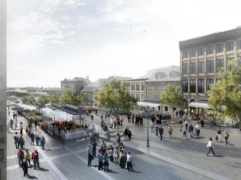 Jacques-Cartier Square, Montreal, project underway