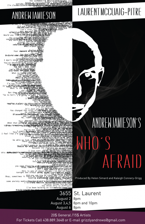 Andrew Jamieson's Who's Afraid Theater Poster, Montréal, 2017