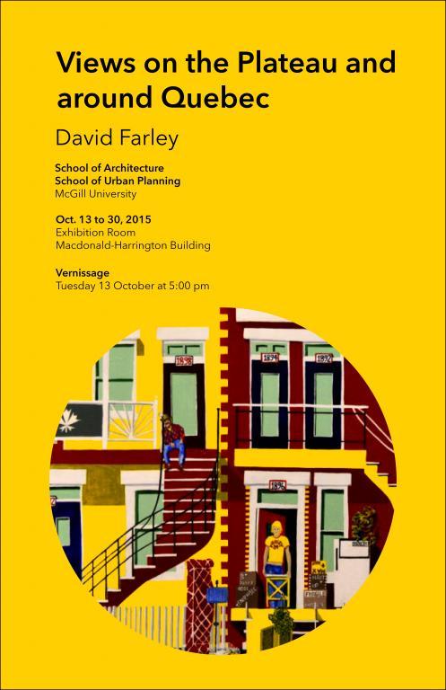 Affiche d'exposition pour David Farley, Montréal, 2015