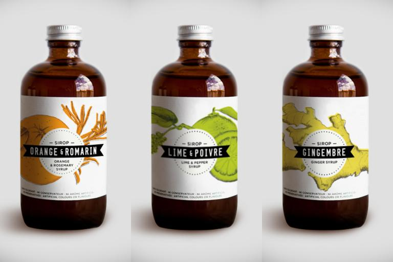 Syrups : Orange-Rosemary, Lime-Pepper, Ginger, Montreal, 2013
