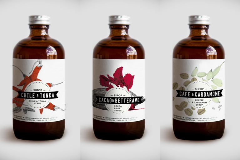 Syrups : Chile-Tonka 2015, Cocoa-Beet 2016, Coffee-Cardamom 2014, Montreal