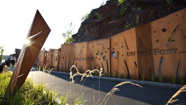 Cartier-Roberval memory wall, Quebec, 2012