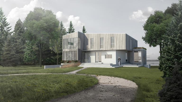 Baie-Yelle residence, Lac-Simon, 2017