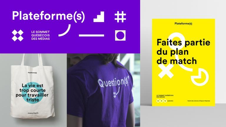 Identité graphique, Plateforme(s) - Le Sommet québécois des médias, Montréal, 2017