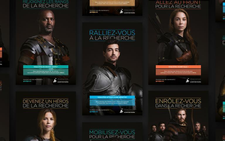 Campagne d'affichage, Algorithme Pharma, Montréal, 2017