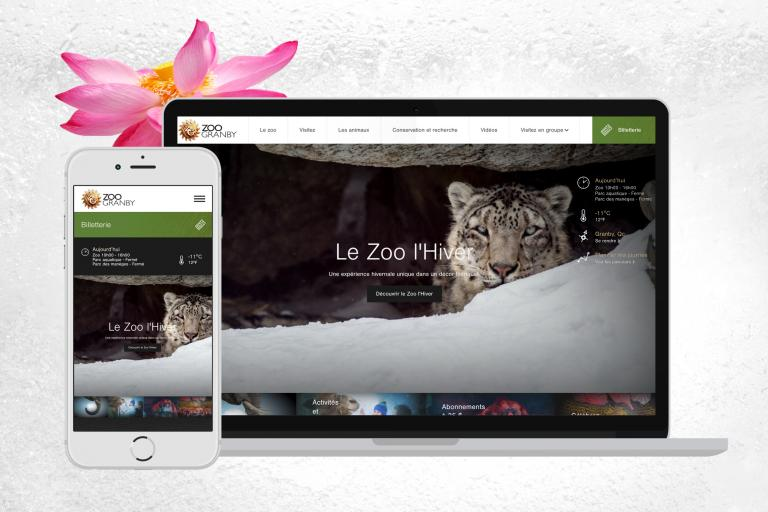 Zoo de Granby website, Montréal, 2016