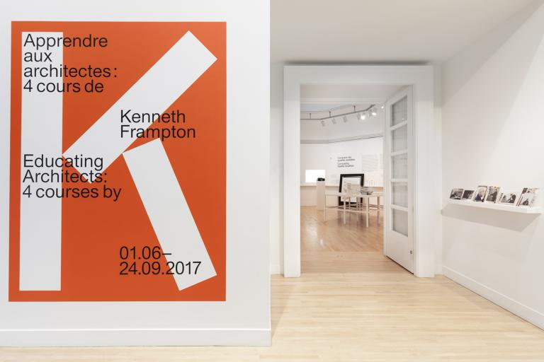 Exhibit Design and Campaign, Educating Architects: Four Courses by Kenneth Frampton, CCA, Montréal, 2017