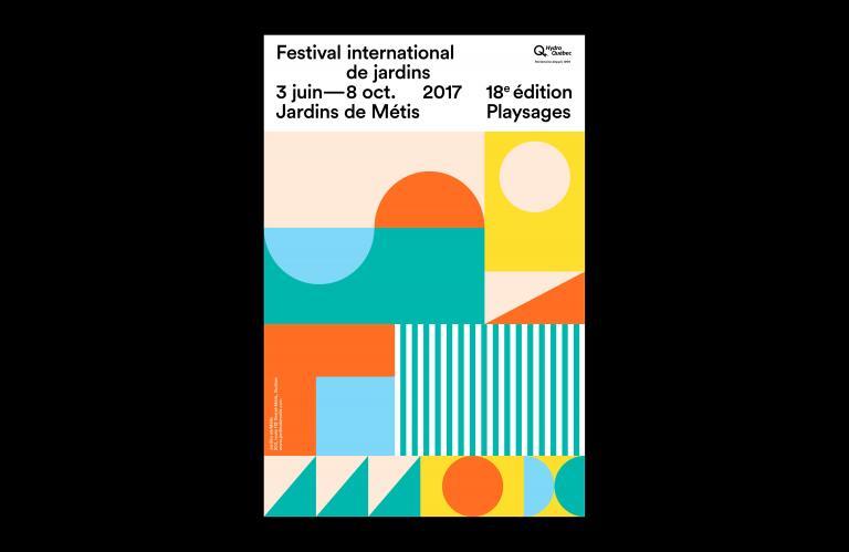 Affiche et programme, Festival international de jardins 2017, Jardins de Métis, Québec, 2017