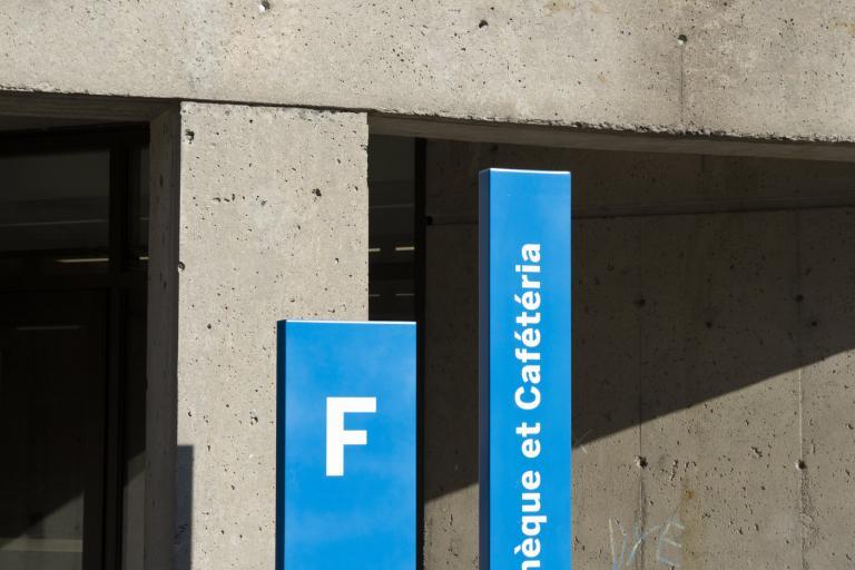 Système signalétique, Cégep de Saint-Laurent, Montréal, 2017