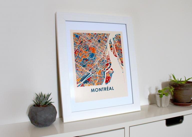 Montréal map print, Montréal, 2018