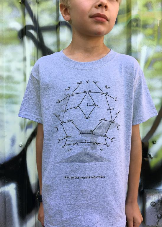 T-shirt Relier les points Montréal pour enfants, la Biosphère, 2017