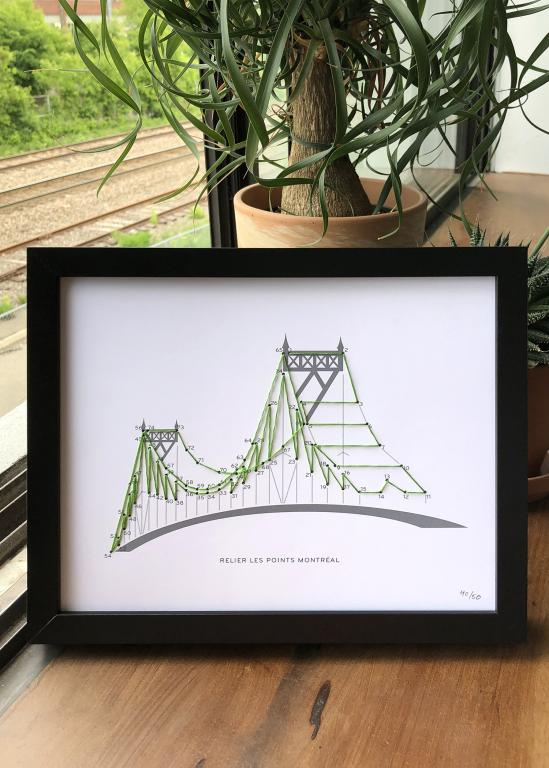 Jacques-Cartier Bridge connect the dogs poster, limited edition, Montréal, 2018