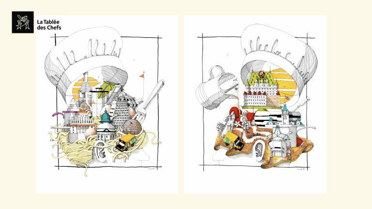 Illustrations pour La Tablée des Chefs, Montréal, 2017