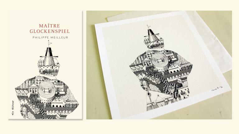 Illustration for the cover of Maître Glockenspiel, Montréal, 2017