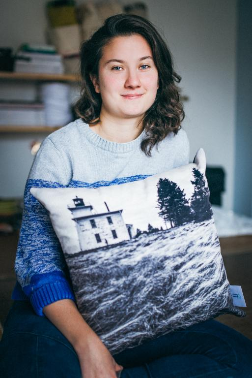 Lighthouse cushion, Montréal, 2014