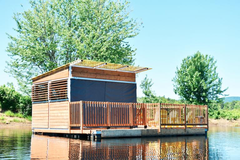 Camping flottant, Québec, 2019