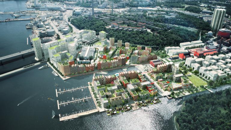 Plan directeur et vision d'aménagement pour le secteur Kolkajen, Stockholm, 2016