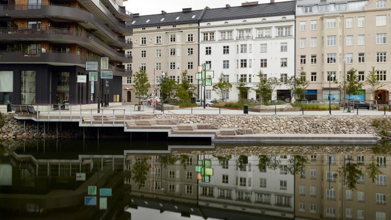 Parc Slussplan, sur les berges du canal, Malmö, 2010-2015