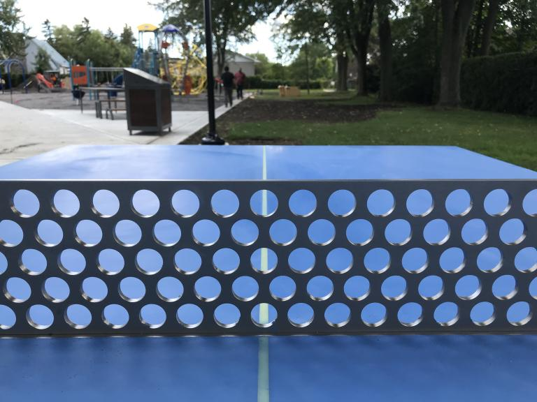 Ping-pong, Parc Victor-Hugo, Montréal, 2019