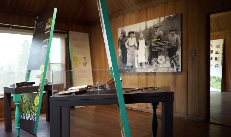 Exhibition at Jardins de Métis, Grand-Métis, 2018