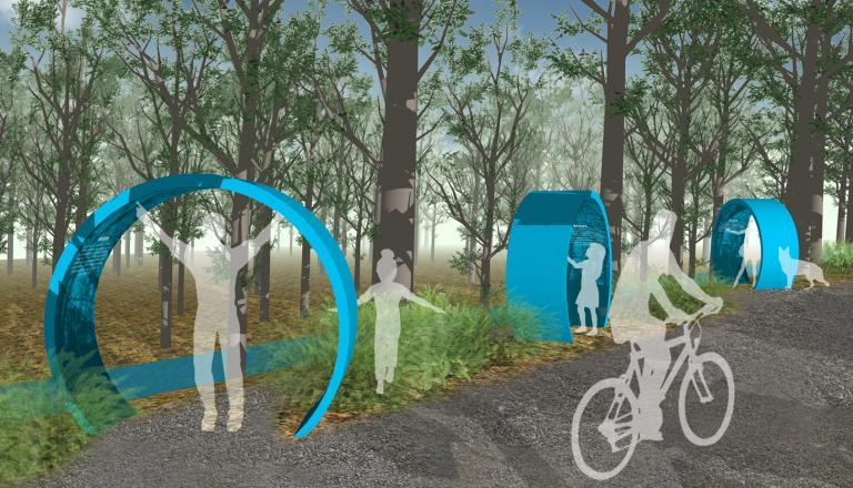 Concept of an Interpretive Trail, Parc-nature du Bois-de-Liesse, Montréal, 2018