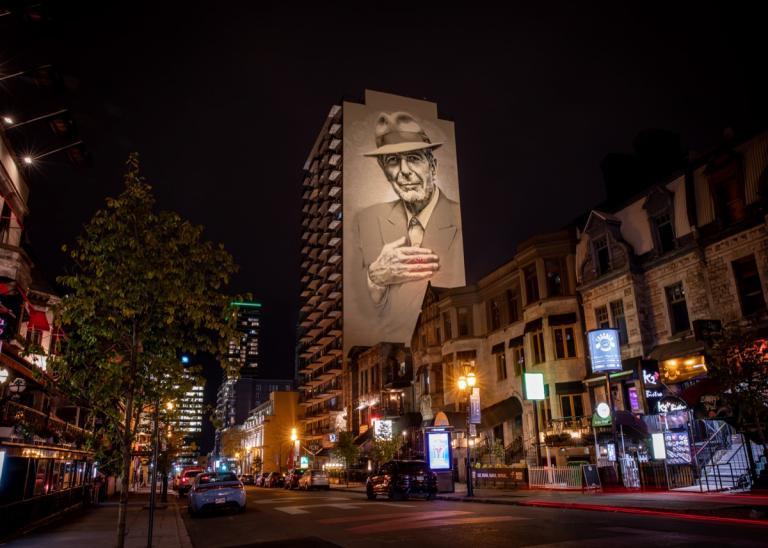 Murale Leonard Cohen, Montréal, 2019