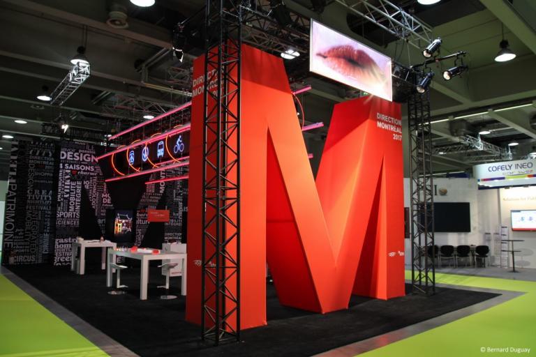 Bonjour Montréal, stand multimédia, Milan, 2017