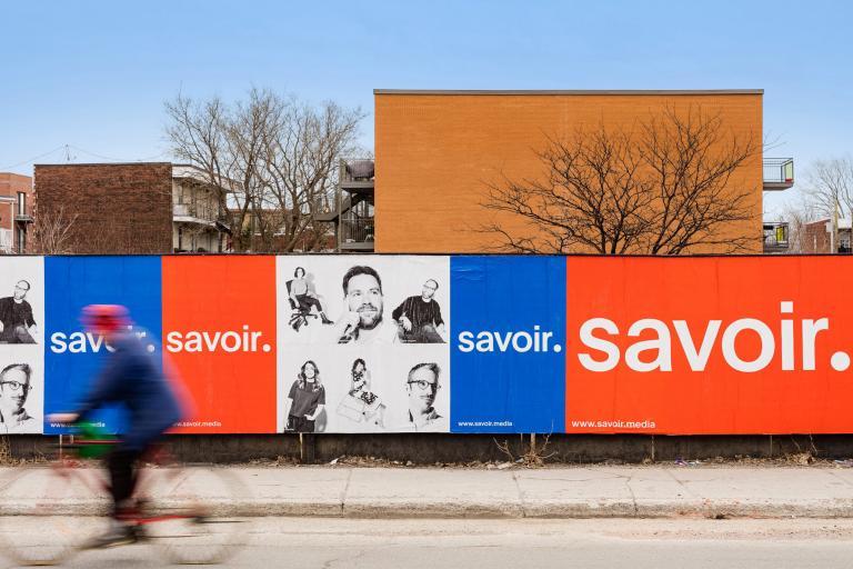 Image de marque et campagne, Savoir média, Montréal, 2018