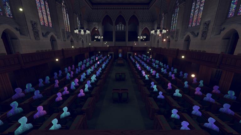 Parlement, expérience VR, Canada, 2020