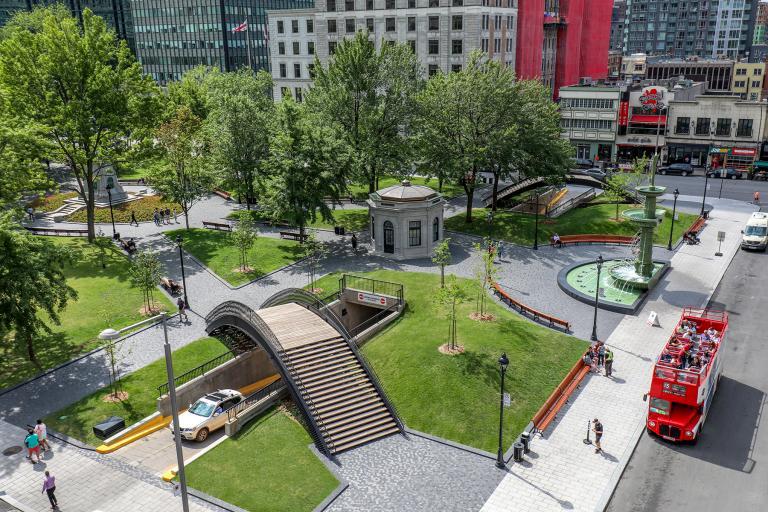 Square Dorchester, portion nord, Montréal, 2019