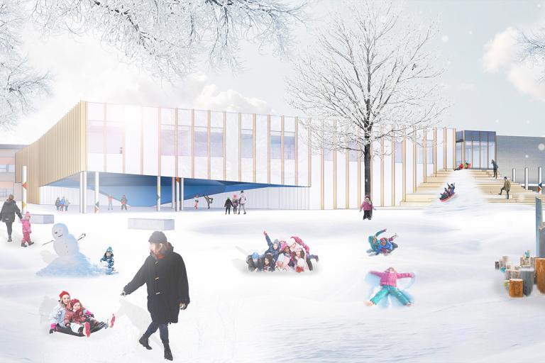 Concours Lab-École, agrandissement de l'école primaire Pierre-Elliott-Trudeau, Gatineau, 2020