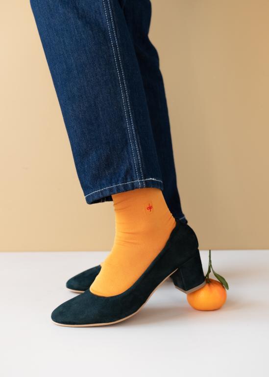 Bas unis moutarde, Dueple Socks