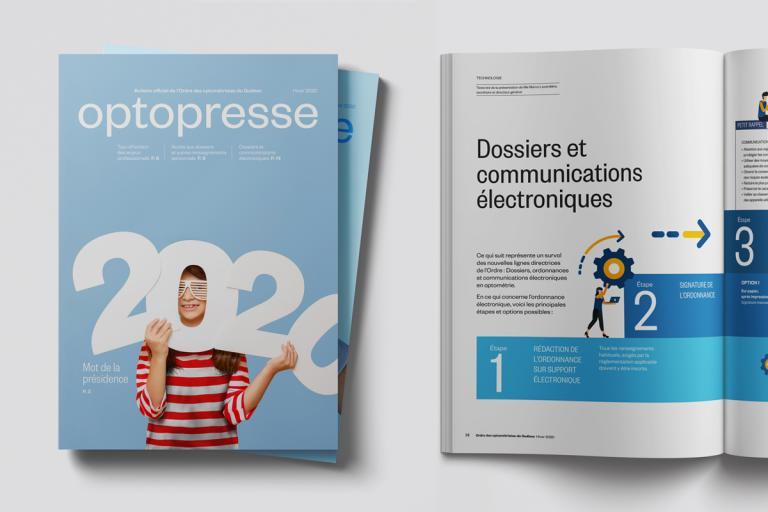 Magazine Optopresse, Ordre des optométristes du Québec, 2020